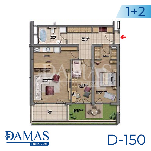 Damas Project D-150 in Istanbul - Floor plan picture 04