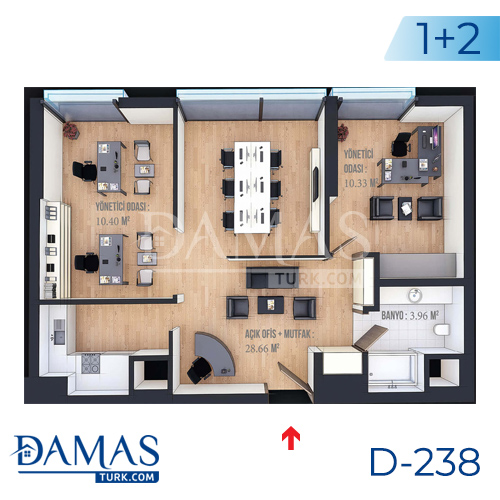 Damas Project D-238 in Istanbul - Floor plan picture  04