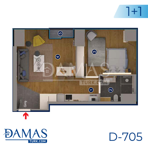 Damas Project D-705 in Ankara - Floor plan picture 04