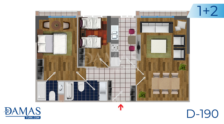 Damas Project D-190 in Istanbul - Floor plan picture  04