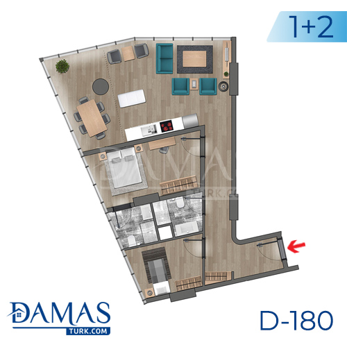 Damas Project D-180 in Istanbul - Floor plan picture  04