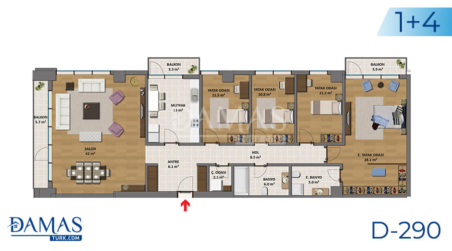 Damas Project D-290 in Istanbul - Floor plan picture 04