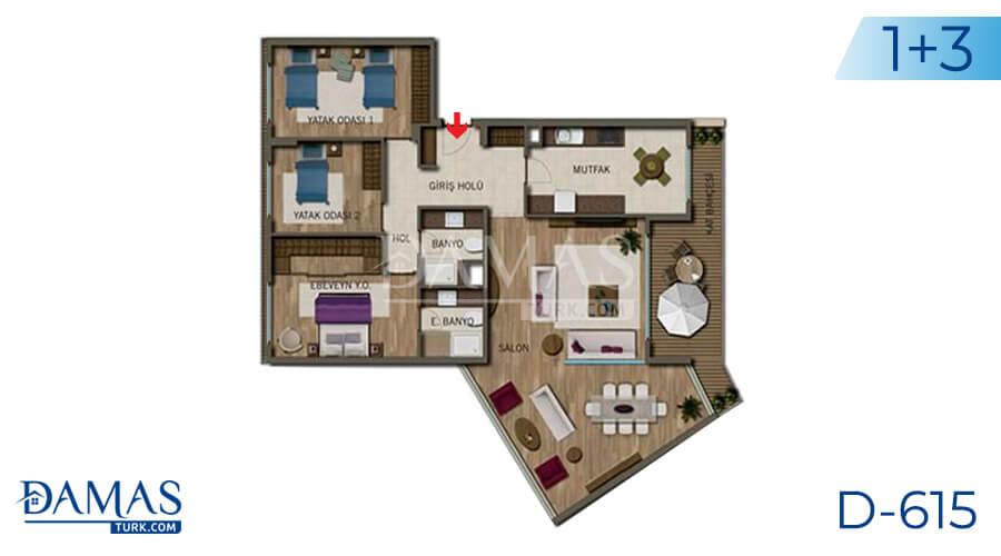 Damas Project D-615 in Antalya - Floor plan picture 04