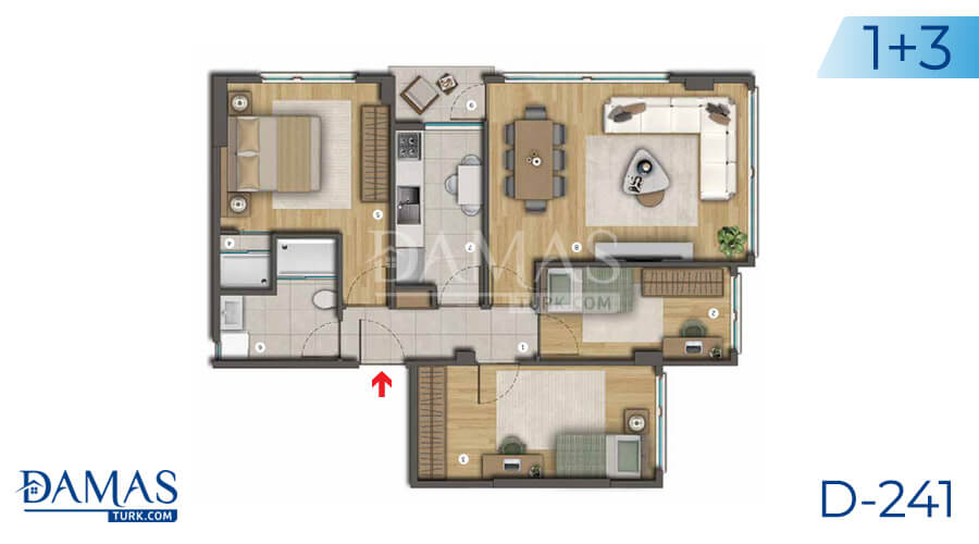 Damas Project D-241 in Istanbul - Floor plan picture  04