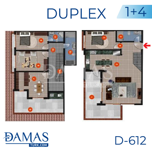Damas Project D-612 in Antalya - Floor plan picture 04