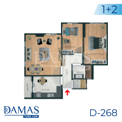 Damas Project D-268 in Istanbul - Floor plan picture 04