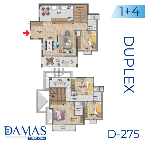 Damas Project D-275 in Istanbul - Floor plan picture 04