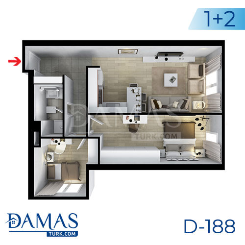 Damas Project D-188 in Istanbul - Floor plan picture  04