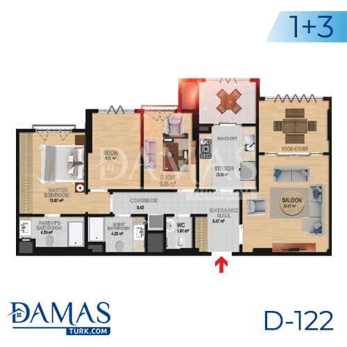 Damas Project D-122 in Istanbul - Floor plan picture 04