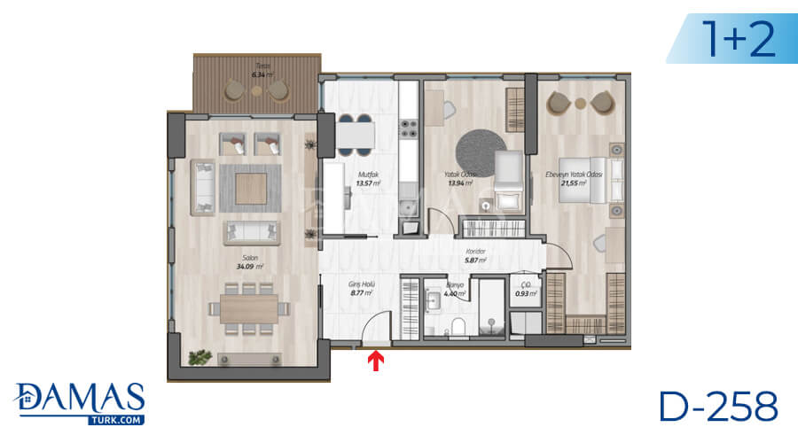 Damas Project D-258 in Istanbul - Floor plan picture 04