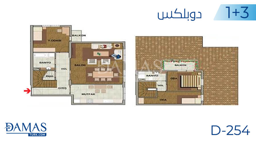 Damas Project D-254 in Istanbul - Floor plan picture 04