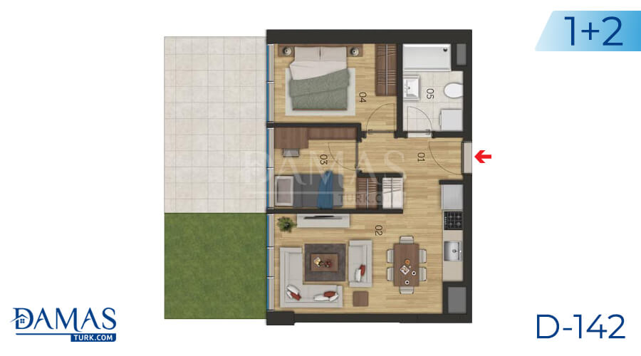 Damas Project D-142 in Istanbul - Floor plan picture 04