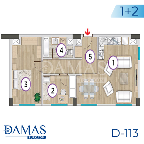 Damas Project D-113 in Istanbul - Floor plan picture 04