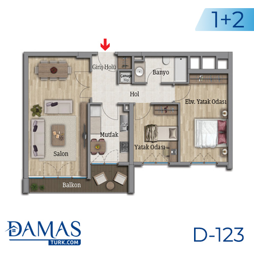 Damas Project D-123 in Istanbul - Floor plan picture 04
