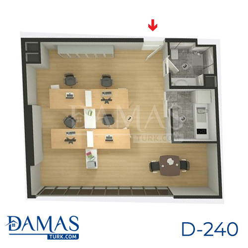 Damas Project D-240 in Istanbul - Floor plan picture  04