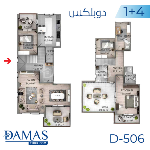 Damas Project D-506 in kocaeli - Floor plan picture 04