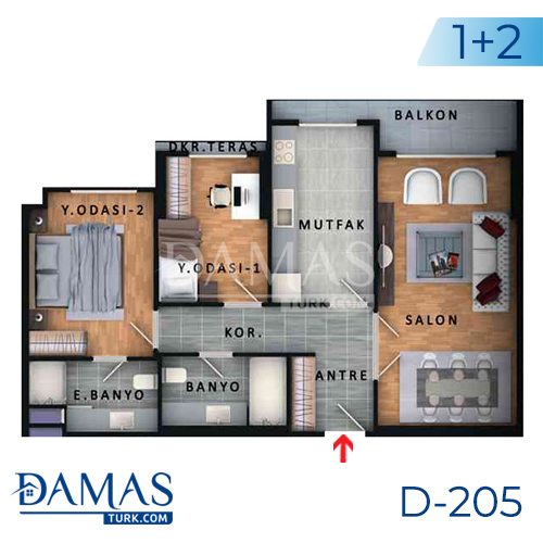 Damas Project D-205 in Istanbul - Floor plan picture  04