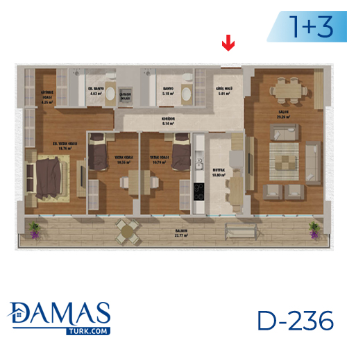 Damas Project D-236 in Istanbul - Floor plan picturer  04