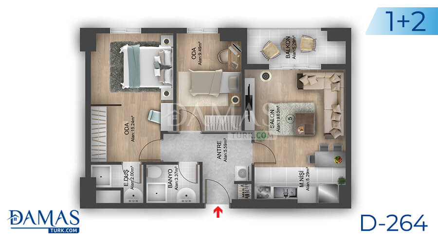 Damas Project D-264 in Istanbul - Floor plan picture 04