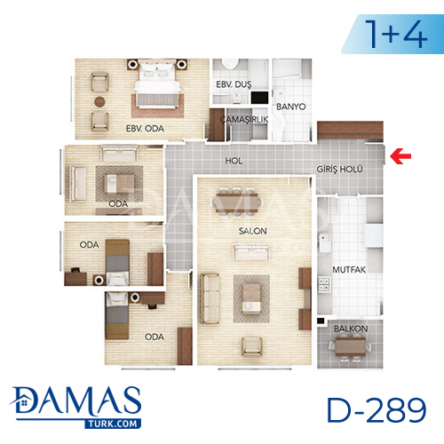 Damas Project D-289 in Istanbul - Floor plan picture 04