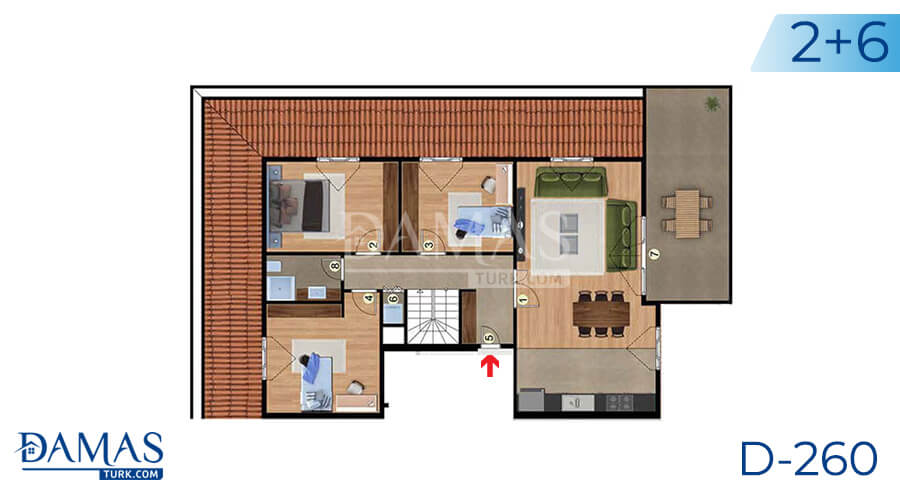 Damas Project D-260 in Istanbul - Floor plan picture 04