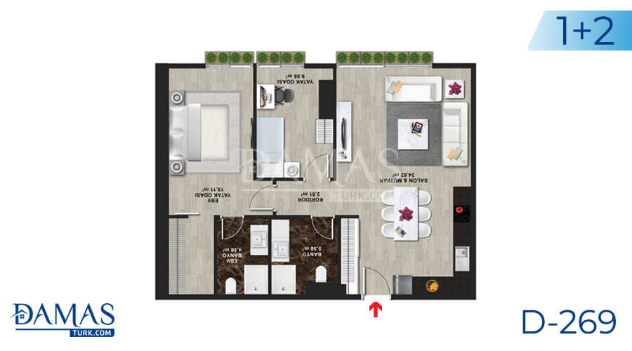 Damas Project D-269 in Istanbul - Floor plan picture 04