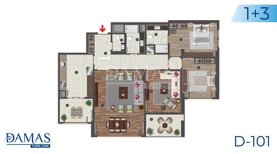 Damas Project D-101 in Istanbul - Floor plan picture 04