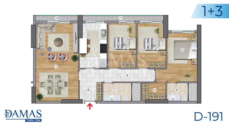 Damas Project D-191 in Istanbul - Floor plan picture  04