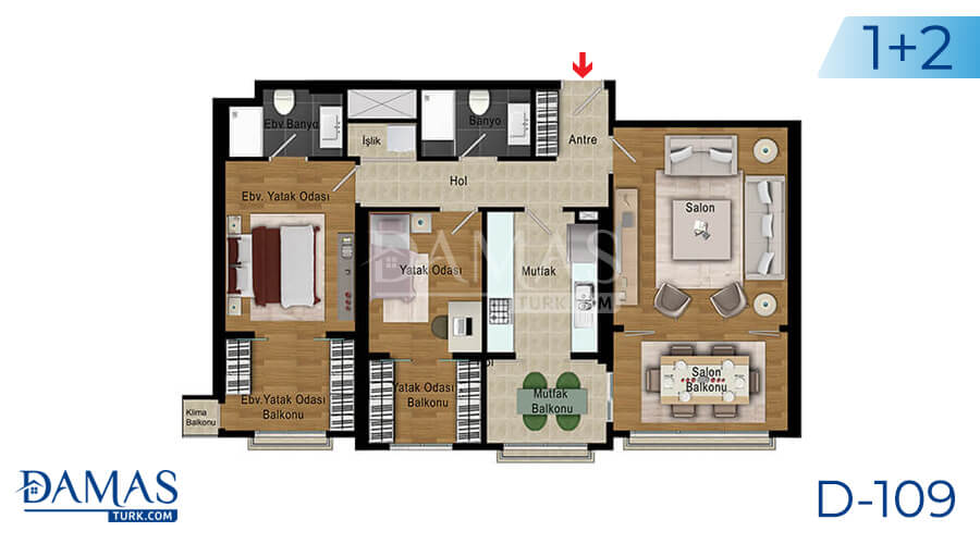 Damas Project D-109 in Istanbul - Floor plan picture 04