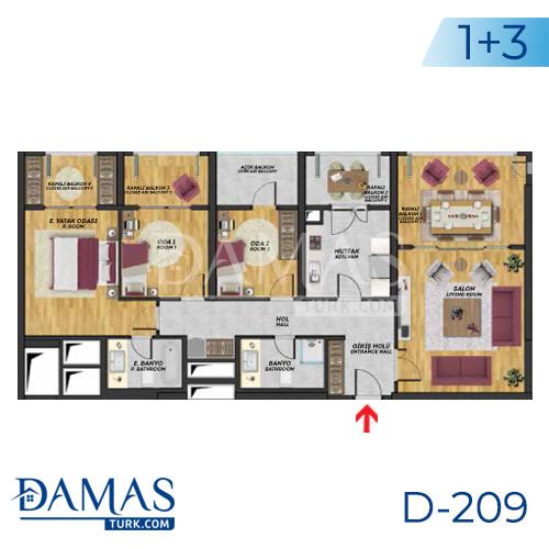 Damas Project D-209 in Istanbul - Floor plan picture  04