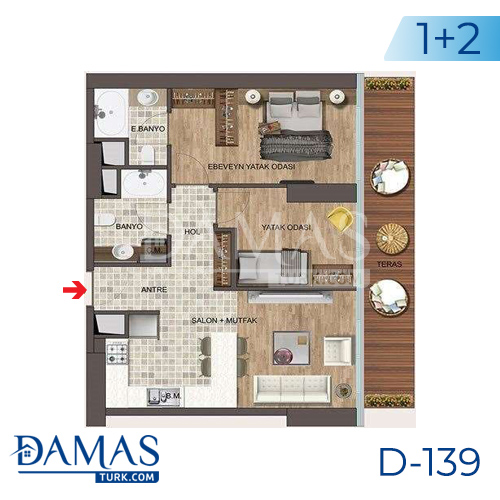 Damas Project D-139 in Istanbul - Floor plan picture 04