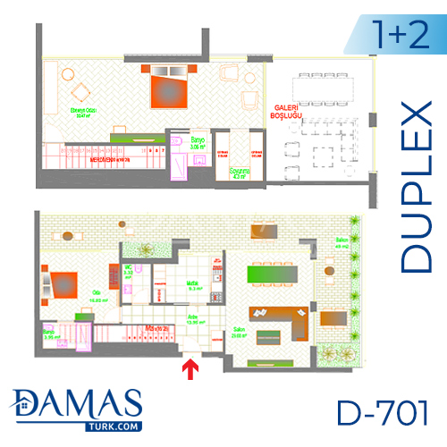 Damas Project D-701 in Ankara - Floor plan picture 04