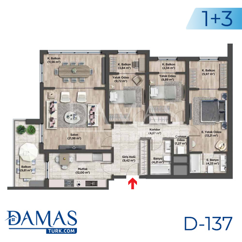 Damas Project D-137 in Istanbul - Floor plan picture 04