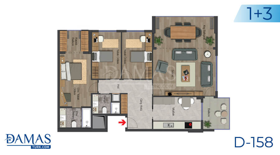 Damas Project D-158 in Istanbul - Floor plan picture 04
