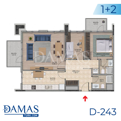 Damas Project D-243 in Istanbul - Floor plan picture  04