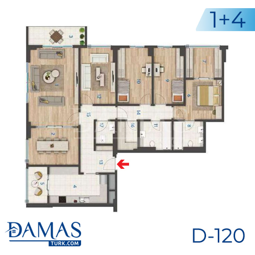 Damas Project D-120 in Istanbul - Floor plan picture 04