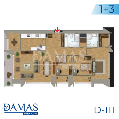 Damas Project D-111 in Istanbul - Floor plan picture 04