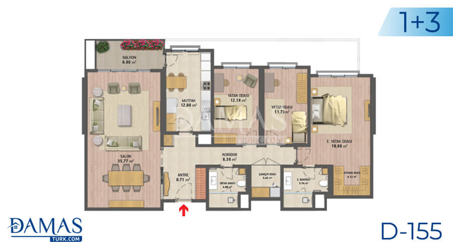 Damas Project D-155 in Istanbul - Floor plan picture 04