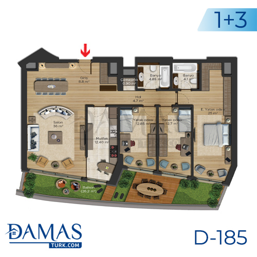 Damas Project D-185 in Istanbul - Floor plan picture  04