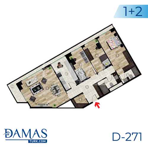 Damas Project D-271 in Istanbul - Floor plan picture 04