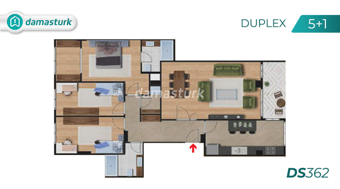 Apartments for sale in Turkey - Istanbul - the complex DS362  || damasturk Real Estate Company 04