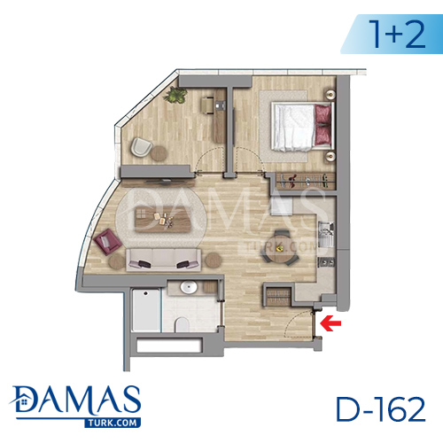 Damas Project D-162 in Istanbul - Floor plan picture 04