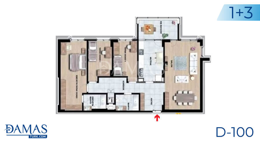 Damas Project D-100 in Istanbul - Floor plan picture 04