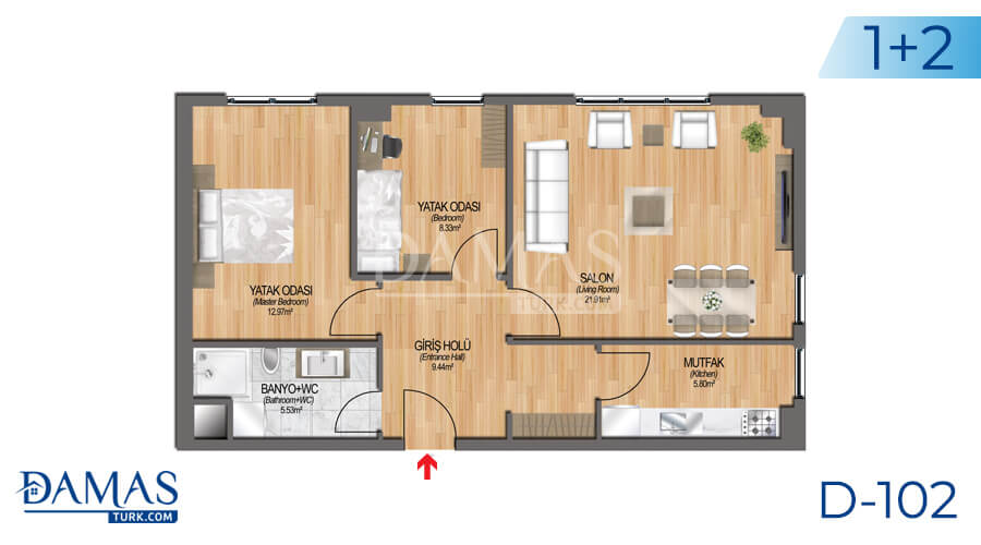 Damas Project D-102 in Istanbul - Floor plan picture 04