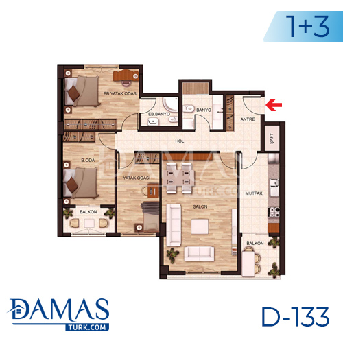 Damas Project D-131 in Istanbul - Floor plan picture 04