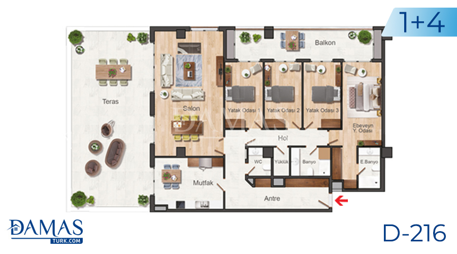 Damas Project D-216 in Istanbul - Floor plan picture  04