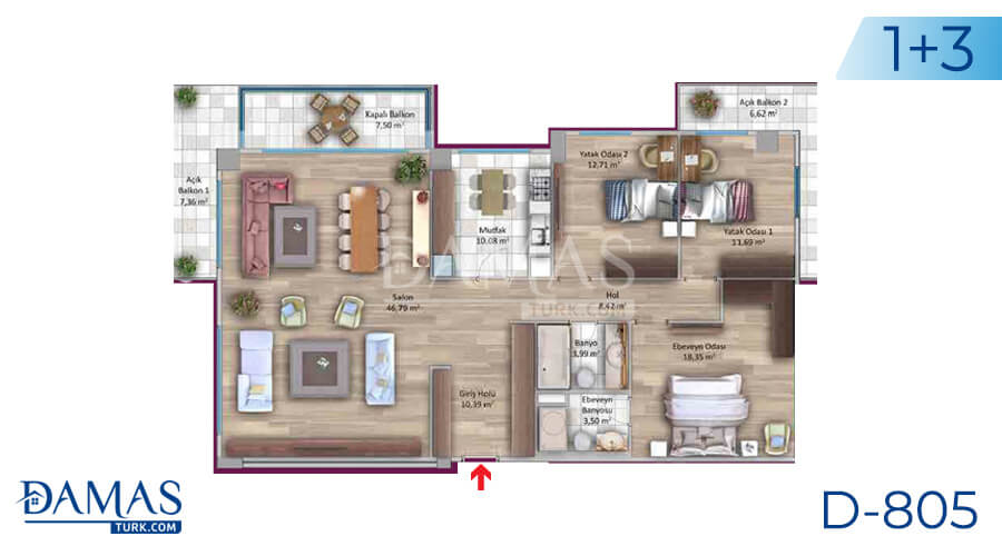 Damas Project D-805 in Istanbul - Floor plan picture 04