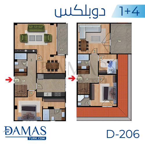 Damas Project D-206 in Istanbul - Floor plan picture 04