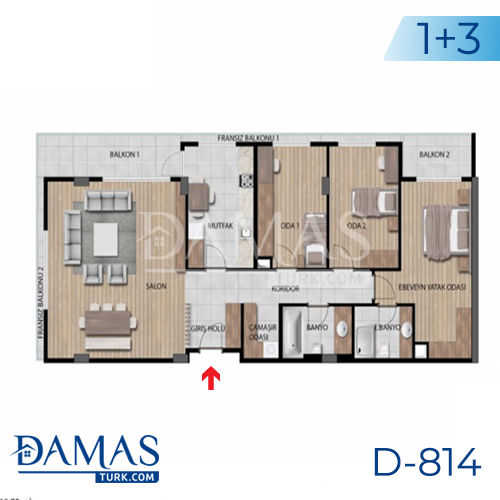 Damas Project D-814 in Istanbul - Floor plan picture 04