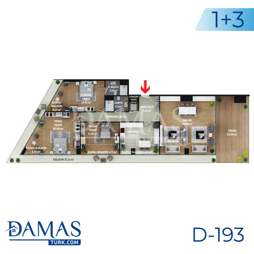 Damas Project D-193 in Istanbul - Floor plan picture  04